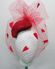 Sweet Heart Cocktail Hat