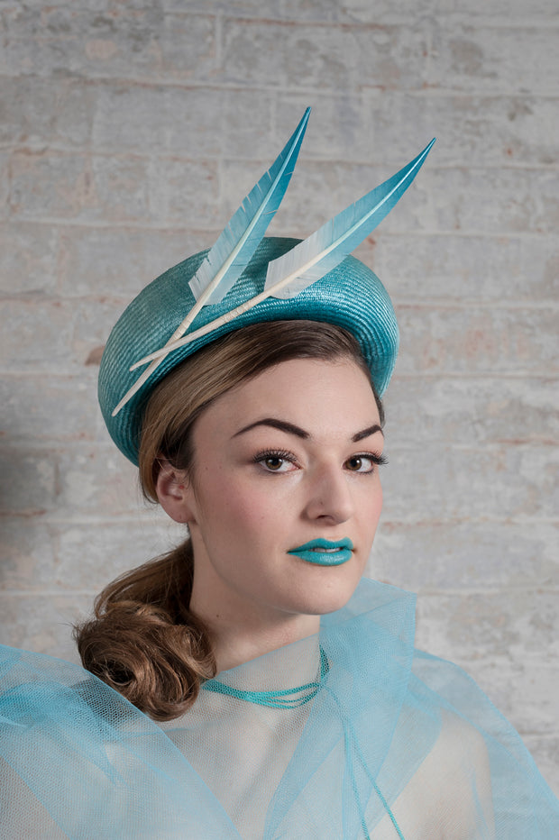 Turquoise Splash Full Halo Hat