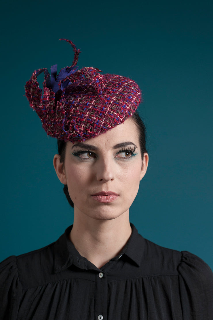 Tweed Mess Cocktail Hat