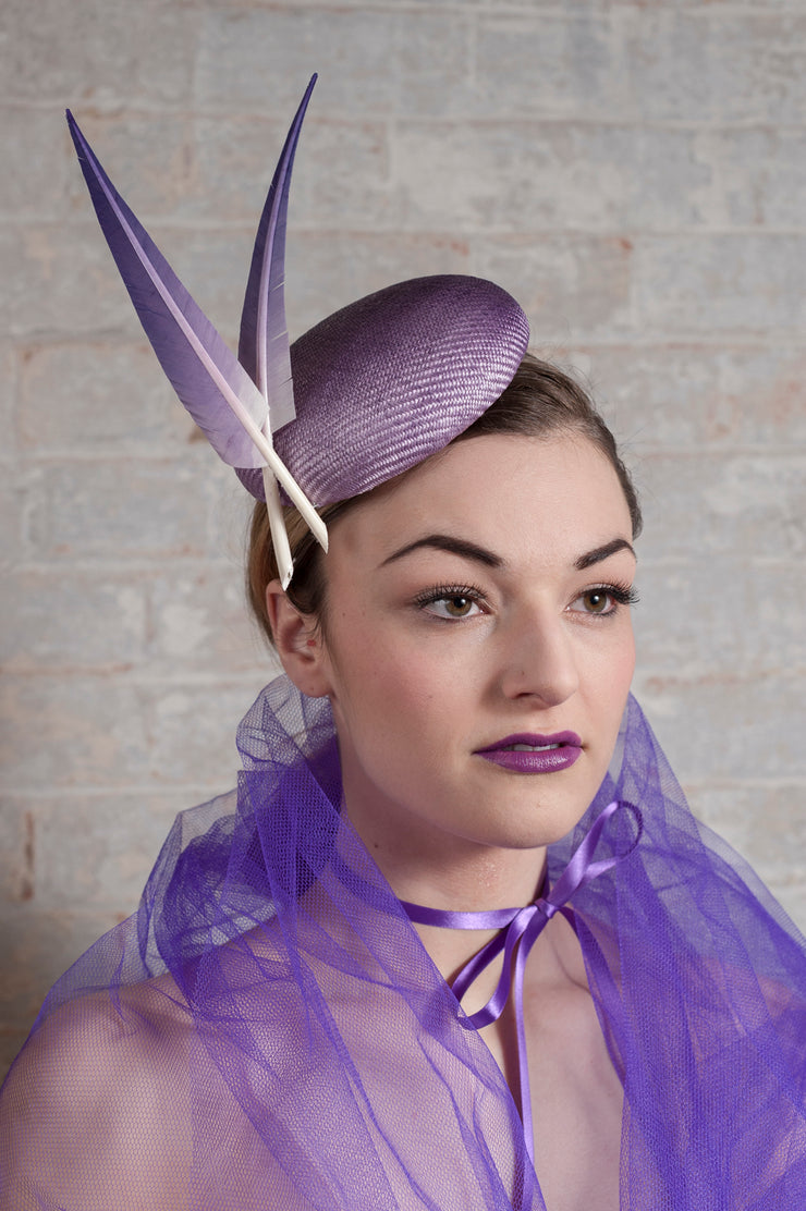Violet Blast Cocktail Hat