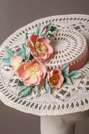 Wild Rose Boater Hat