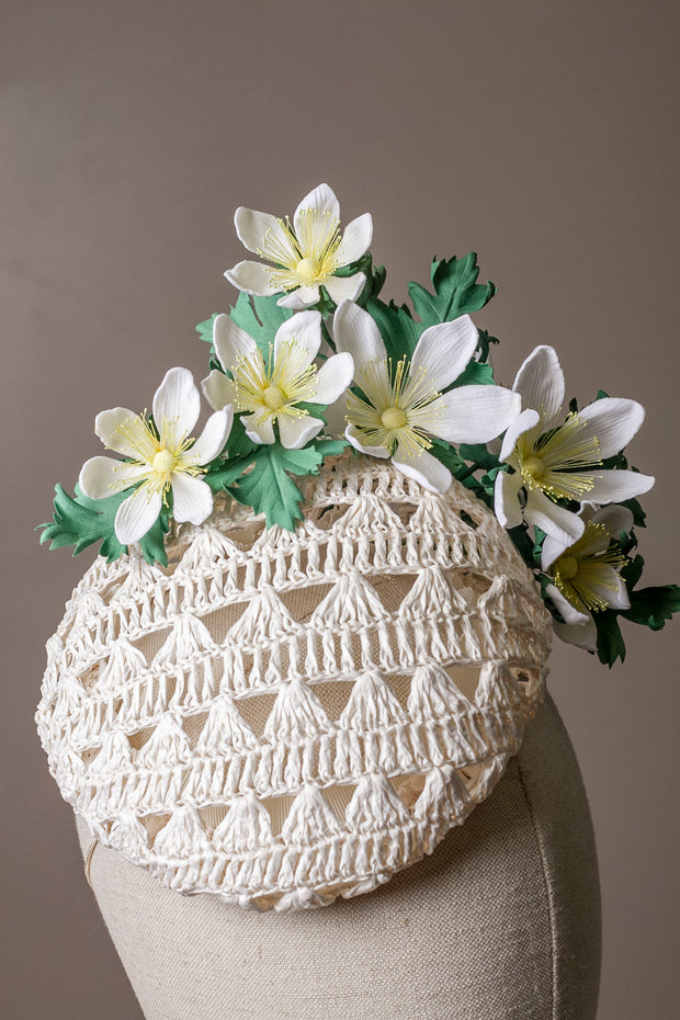 Wood Anemone Cocktail Hat