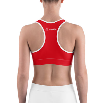 Sexy red workout yoga Sports bra