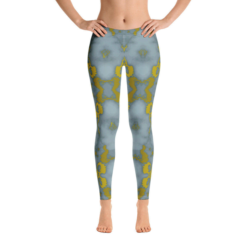 FITNESS HIGH WAIST PRINTED WORKOUT LEGGINGS