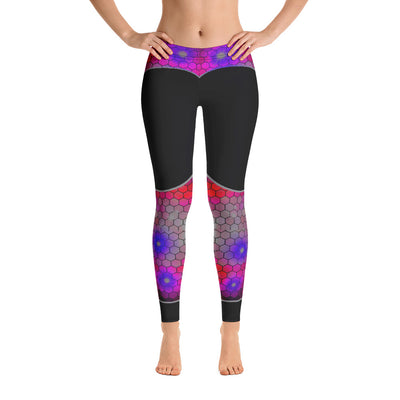 STYLISH MULTICOLORED HEXAGON YOGA LEGGINGS