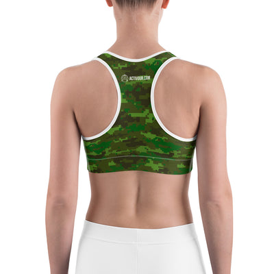FASHION CAMOUFLAGE SPORTS SPORTS BRA
