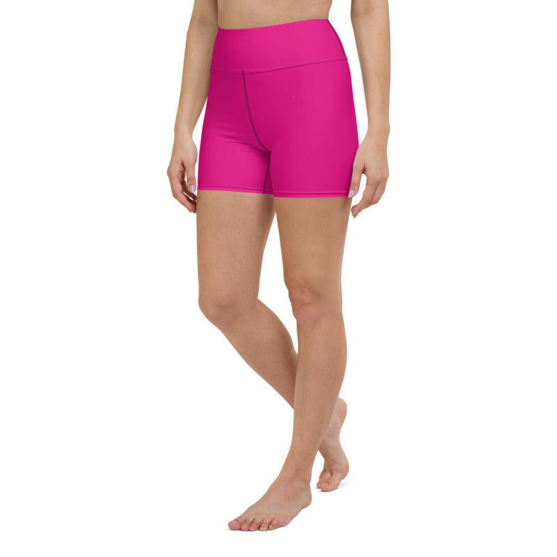 Women's blue plain yoga shorts