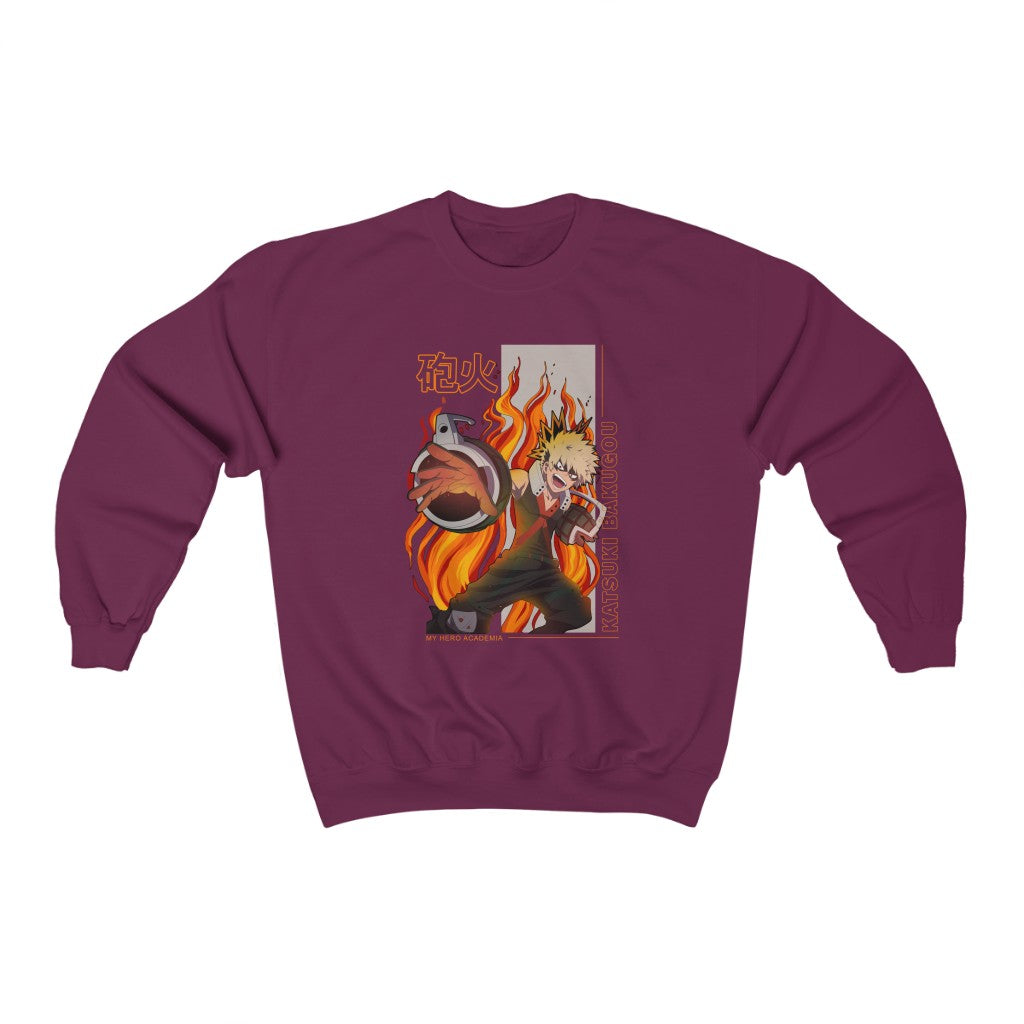 Bakugou Gunfire Sweatshirt