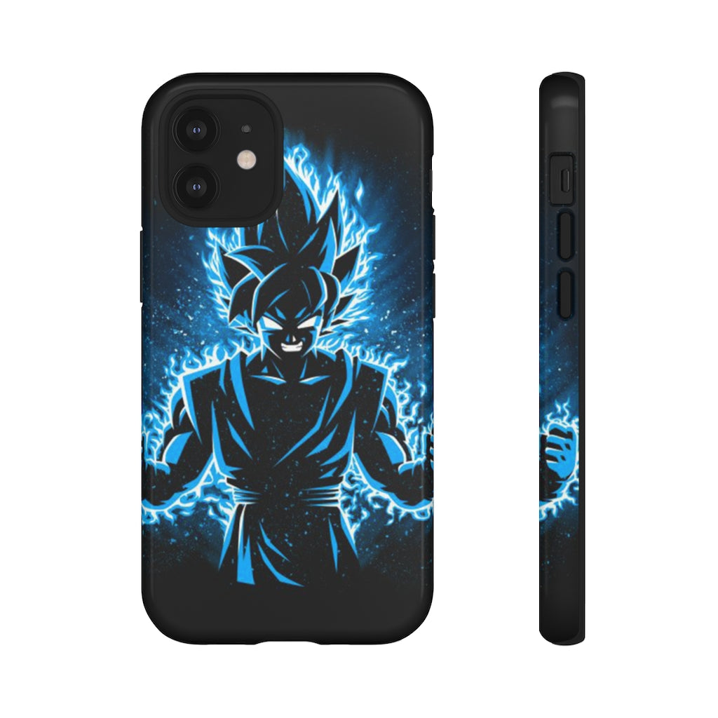 Blue Neon Goku iPhone Case