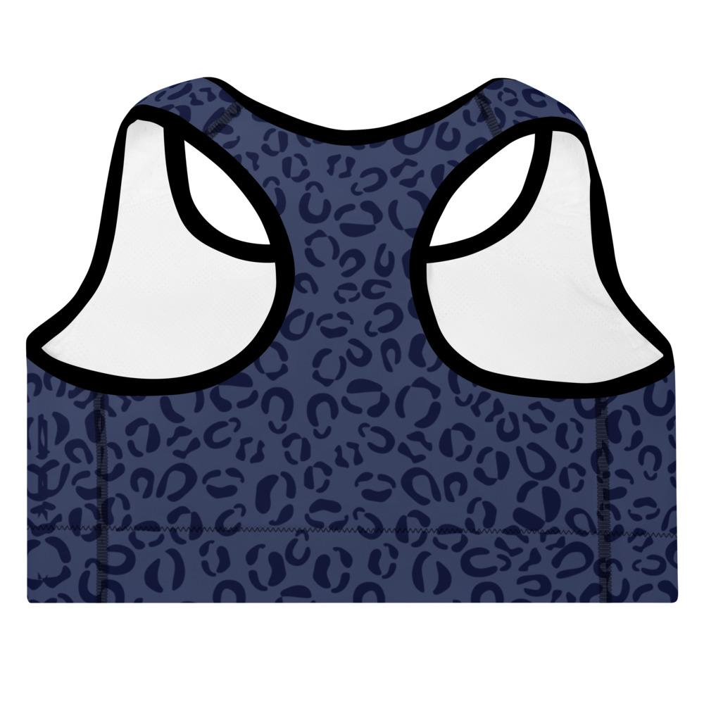 sportsbra with blue leopard