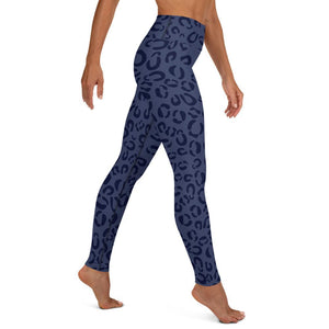 Yoga Leggings for Woman in Blue Print