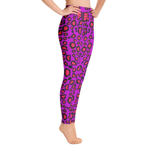 Leopard Print Yoga Leggings in pink color