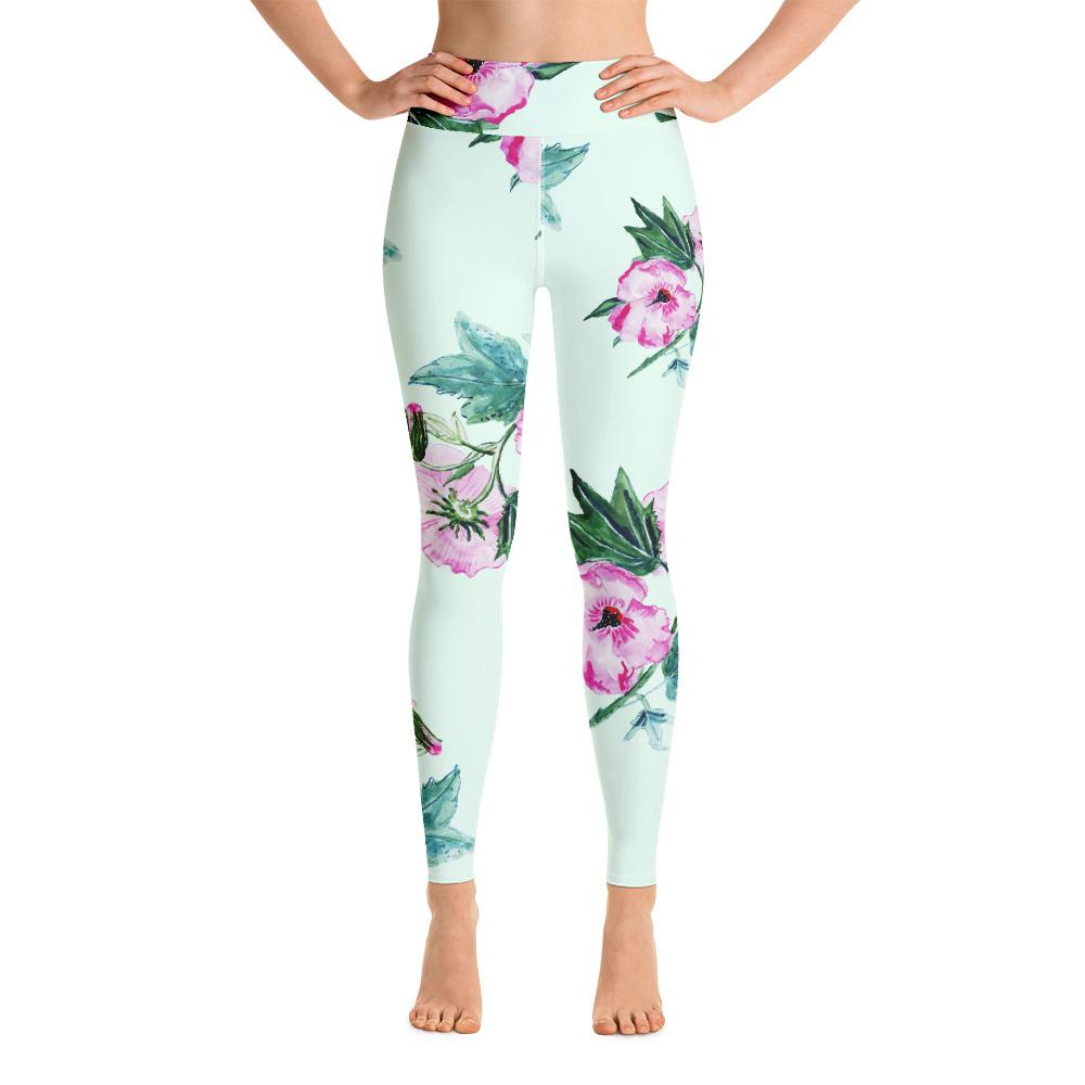 Hight Waist Yoga Leggings Womens with Floral print
