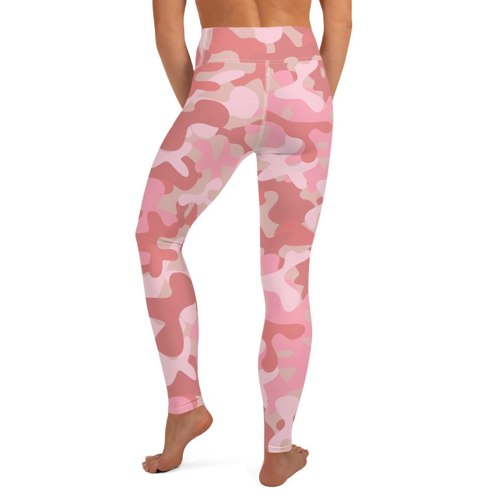 Womens Yoga leggings in camouflage pink print