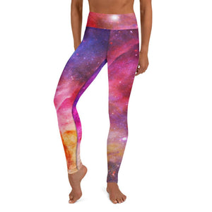 Yoga Leggings in bright space colors