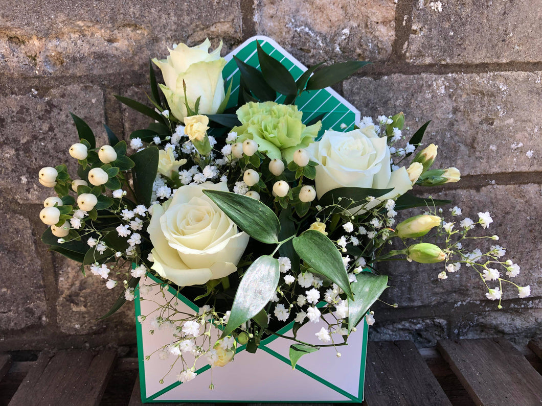 Green & Creams Floral Envelope