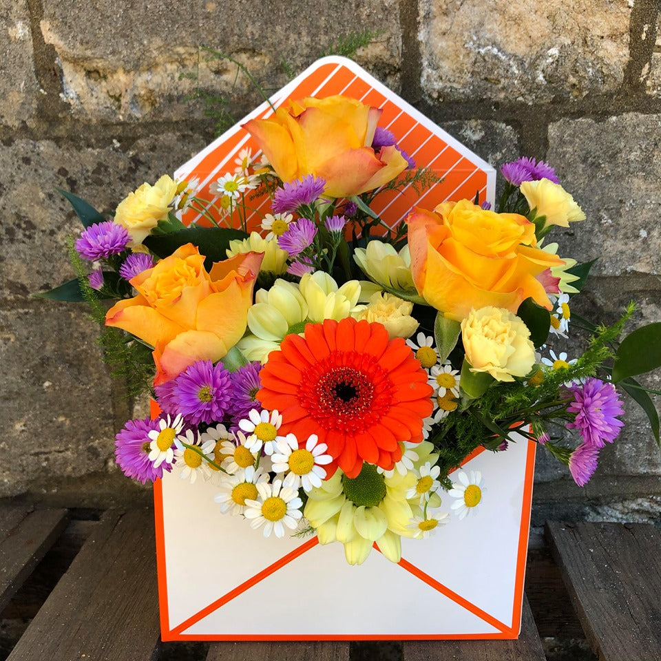 Oranges, Yellow & Purple Floral Envelope