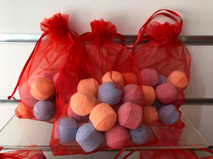 15 mini bathbombs in gift bag