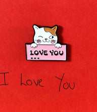 Load image into Gallery viewer, 'I Love You' cat with envelope pin card