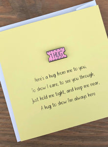 'Here's A Hug' Keepsake Greeting Card