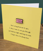 Load image into Gallery viewer, 'Here's A Hug' Keepsake Greeting Card