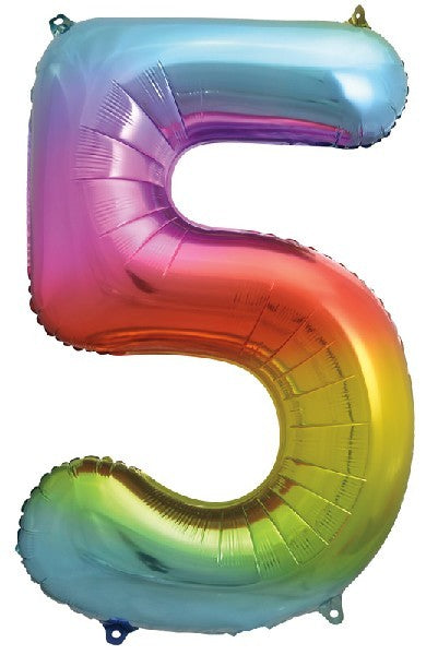 34IN RAINBOW NUMERAL FOIL 5