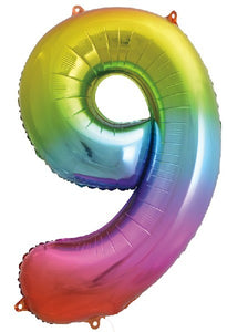34IN RAINBOW NUMERAL FOIL 9
