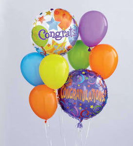 Congratulations Helium Balloon Bouquet