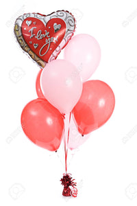 "Valentine ""I Love You"" Helium Balloon Bouquet"