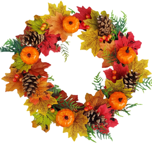 Artificial Autumn Door Wreath 12""