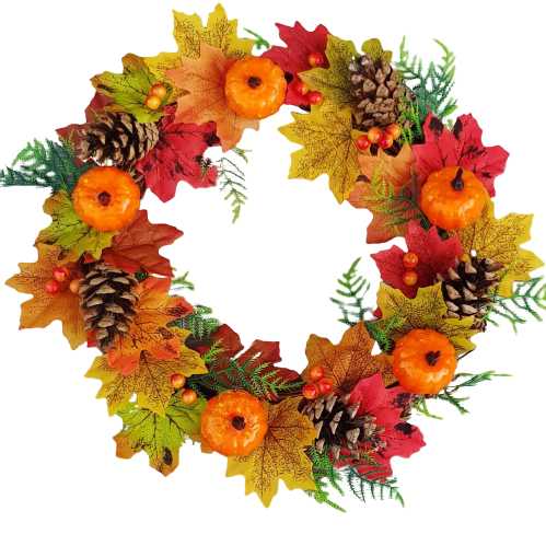 Artificial Autumn Door Wreath 12