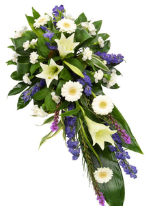 Purple & White Lily Spray - Florist Design