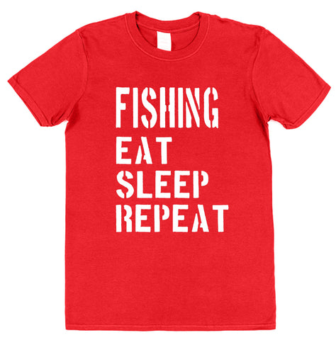Fishing Eat Sleep Repeat T-Shirt - Click My Clobber