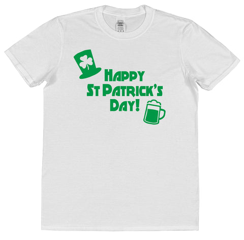 Happy St Patrick's Day T-Shirt (Mens or Ladies) - Click My Clobber