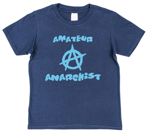 Amateur Anarchist Kids Cotton T-Shirt
