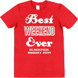 Personalised Best Weekend Ever Stag or Hen Party T-Shirts