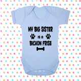 My Big Brother (or Sister) Is A Bichon Frise Bodysuit - Click My Clobber