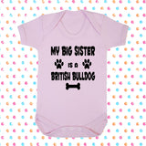 My Big Brother (or Sister) Is A British Bulldog Bodysuit - Click My Clobber