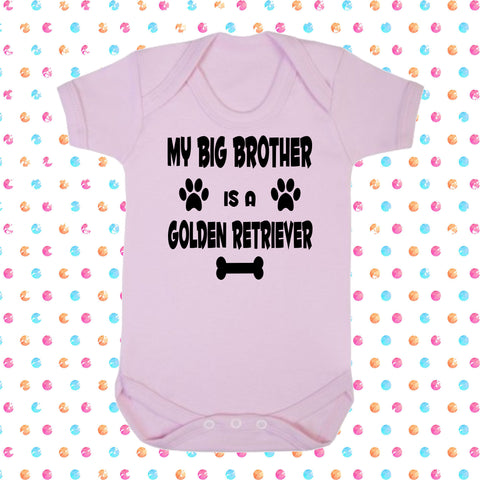 My Big Brother (or Sister) Is A Golden Retriever Bodysuit - Click My Clobber