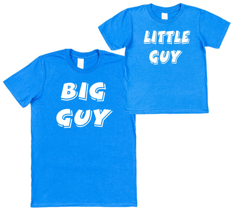 Big Guy & Little Guy Set of 2 T-Shirts - Click My Clobber