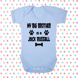 My Big Brother (or Sister) Is A Jack Russell Bodysuit - Click My Clobber