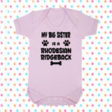 My Big Brother (or Sister) Is A Rhodesian Ridgeback Bodysuit - Click My Clobber