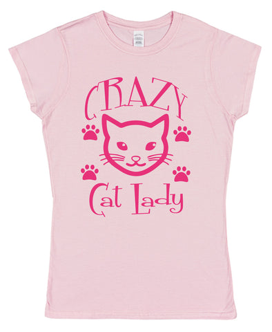 Crazy Cat Lady Womens T-Shirt - Click My Clobber