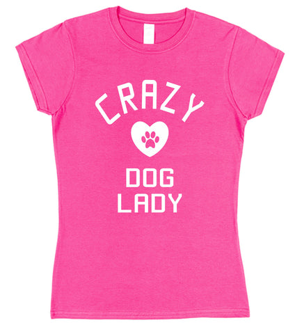 Crazy Dog Lady Womens T-Shirt - Click My Clobber