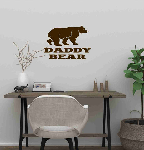 Daddy Bear Wall Decal - Click My Clobber