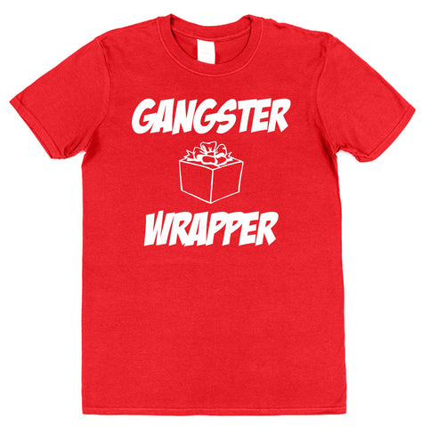 Gangster Wrapper Christmas T-Shirt - Click My Clobber