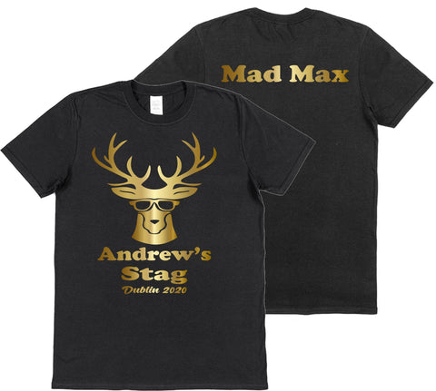 Personalised Groom's Stag Do T-Shirts