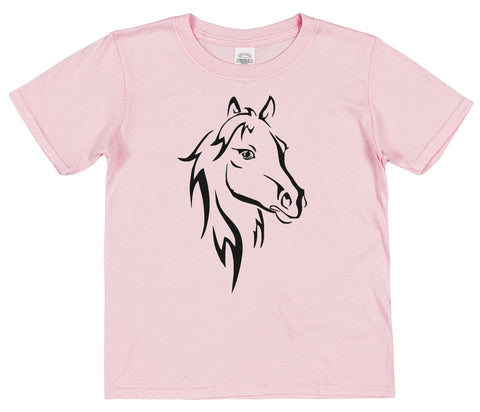 Horse Kids Cotton T-Shirt - Click My Clobber
