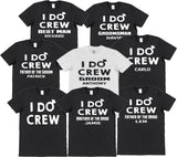 I Do Crew Stag Do T-Shirts with Personalisation Option