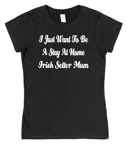 I Just Want To Be A Stay At Home Irish Setter Mum Womens T-Shirt